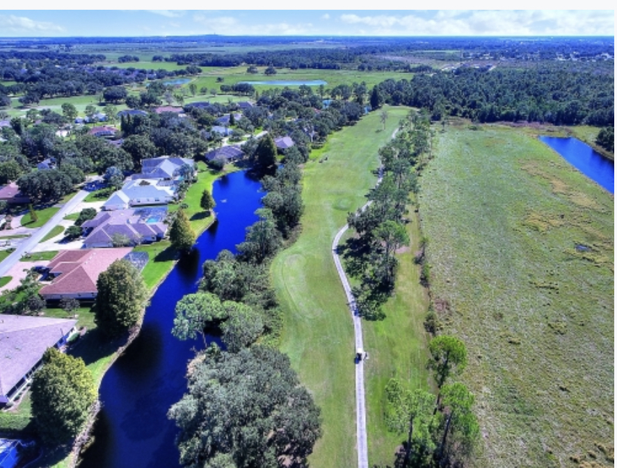 An aerial shot of the Cypresswood Golf Course in Winter Haven